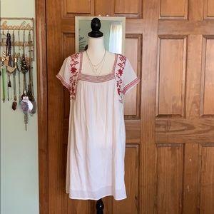 Old navy 70s boho cotton embroidery dress
